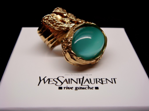 YSL Arty Ring in Aqua