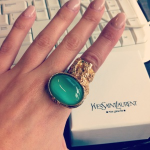 My YSL Arty Ring arrives at work, distracting me from work