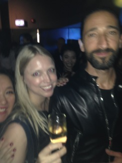 Cheeky snap with Adrien Brody